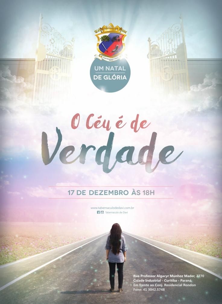 Cantata Natal de Glória - O Céu é de Verdade - Panfleto 15x21 produção